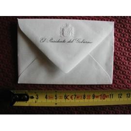 Carte De Visite Vierge Du President Gouvernement Espagnol Felipe Gonzales Avec Enveloppe Marquee Sceau