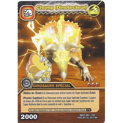 Carte dinosaur king dkds 084 chomp dinotecteur or neuf et d 39 occasion - Carte dinosaure king ...
