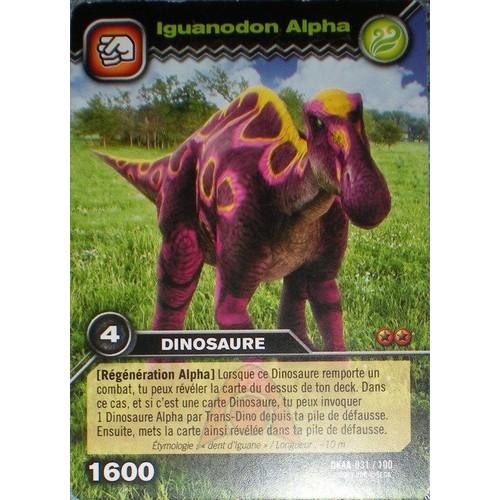 Carte dinosaur king iguanodon alpha dkaa 031 100 neuf et d 39 occasion - Carte dinosaure king ...
