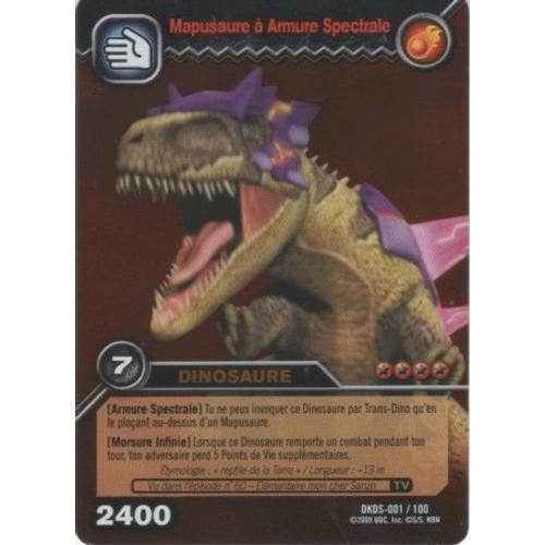 Carte dinosaur king mapusaure armure spectrale or dkds 001 - Carte dinosaure king ...