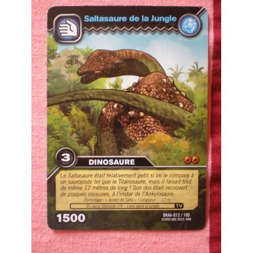 Carte dinosaur king saltasaure de la jungle dkaa 012 100 dinosaure 1500 - Carte dinosaure king ...