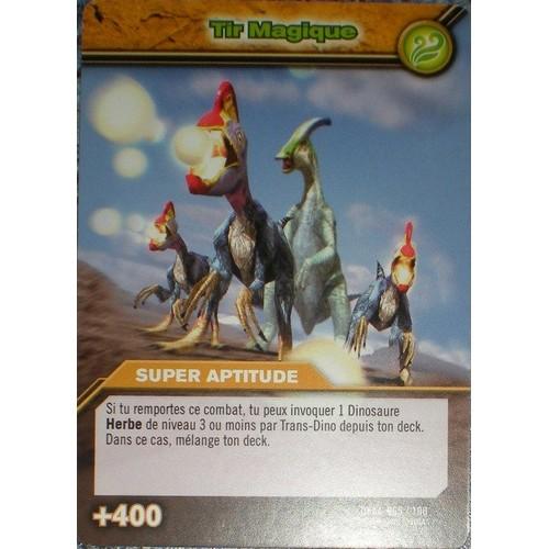 Carte dinosaur king tir magique dkaa 065 100 super aptitude 400 - Carte dinosaure king ...