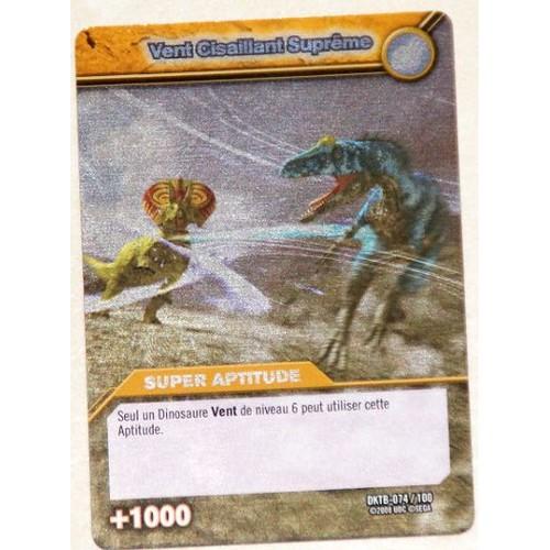Carte dinosaur king vent cisaillant supreme super aptitude 1000 dktb 074 100 holo - Carte dinosaure king ...