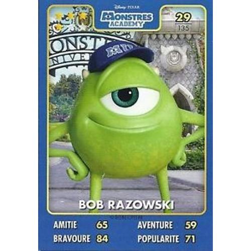 Carte Disney Pixar Auchan 2015 Monstres Academy Bob Razowski N 29 1049799559 L
