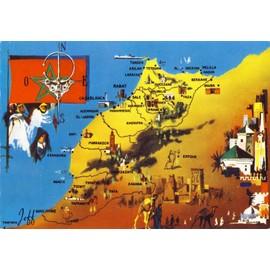 Carte du maroc drapeau du maroc achat et vente rakuten - Drapeau du maroc a imprimer ...