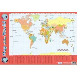 Carte Du Monde Plastifiee.Carte Du Monde Poster Format Moyen 40 X 60 Cm Plastifie Rakuten