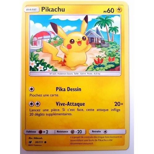 carte fran aise pikachu 30 111 s rie invasion carmin pokemon. Black Bedroom Furniture Sets. Home Design Ideas