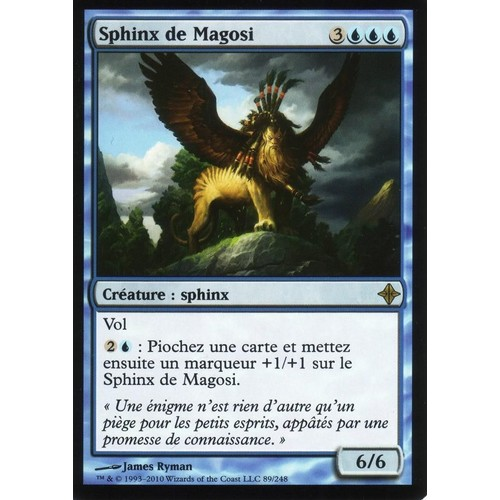 carte magic the gathering sphinx de magosi rare premium eldrazi vf. Black Bedroom Furniture Sets. Home Design Ideas