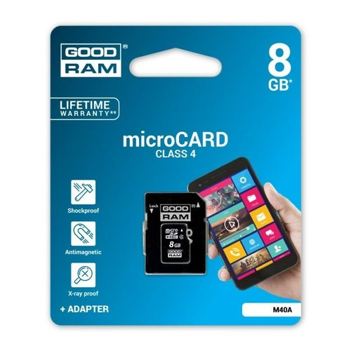 carte m moire micro sdhc adaptateur sd goodram 8gb class 4. Black Bedroom Furniture Sets. Home Design Ideas