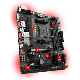 carte m re msi b350m gaming pro format micro atx socket chipset b350. Black Bedroom Furniture Sets. Home Design Ideas