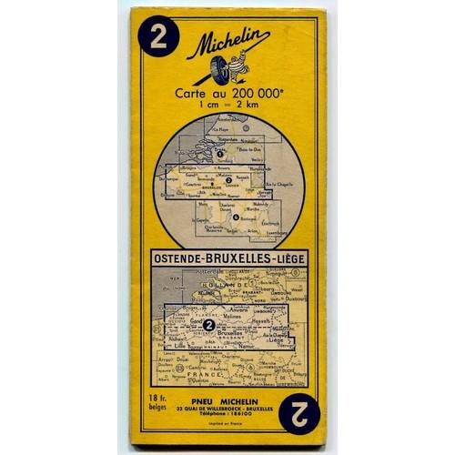 carte michelin n 2 ostende bruxelles liege carte au 200 000e