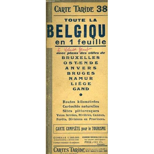 Carte Belgique Complete.Carte N 38 De Toute La Belgique En 1 Feuille Carte Complete Pour Le Tourisme