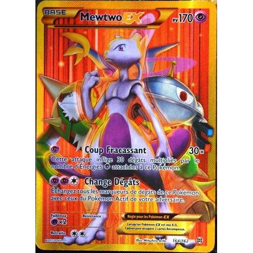 Carte pok mon 164 162 mewtwo ex 170 pv secret rare - Photo de pokemon rare ...