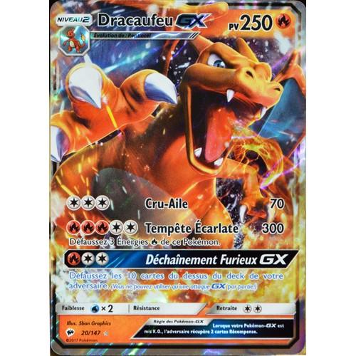 Carte pok mon 20 147 dracaufeu gx 250 pv neuf et d - Carte pokemon a imprimer gratuitement ...
