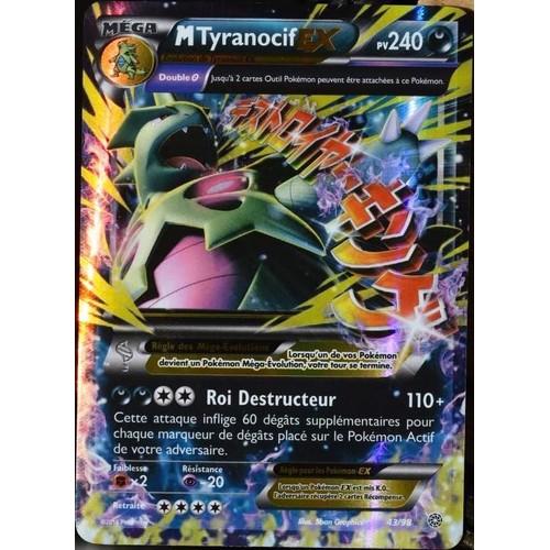 Carte pok mon 43 98 mega tyranocif ex 240 pv ultra rare - Photo de pokemon rare ...