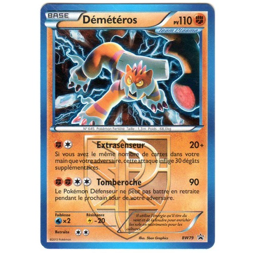 Carte pokemon demeteros promo glaciation plasma bw79 image brillante - Carte pokemon team plasma ...