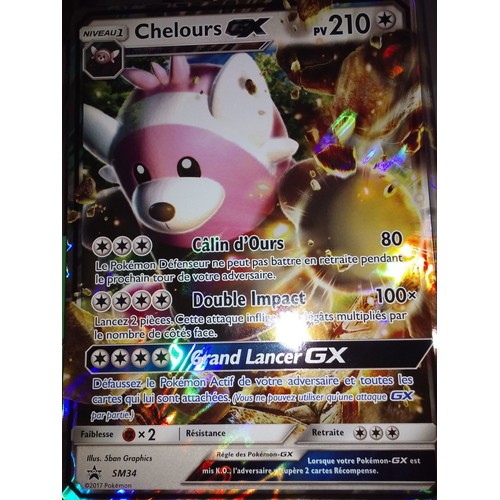 Carte pokemon g ante sm34 chelours gx neuf et d 39 occasion - Carte pokemon geante ...