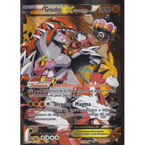 Carte pokemon groudon ex de la team magma neuf et d 39 occasion - Carte pokemone ex ...