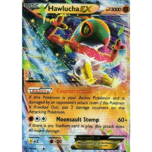 carte pokemon hawlucha ex 64 111 xy furious fists poings furieux version anglaise. Black Bedroom Furniture Sets. Home Design Ideas