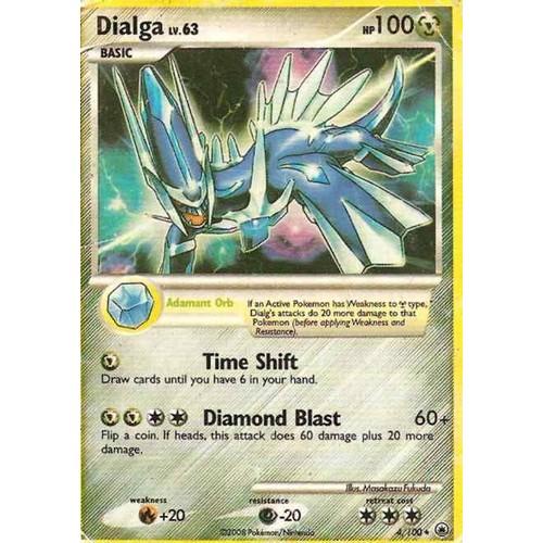 Carte pokemon l gendaire dialga anglais neuf et d 39 occasion - Pokemon legendaire ...