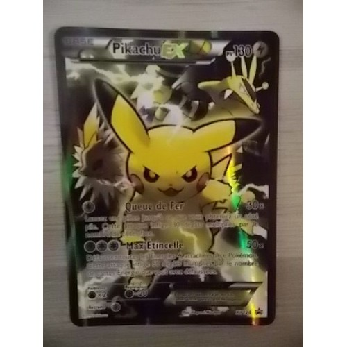 carte pokemon pikachu ex full art xy124 neuf et d 39 occasion. Black Bedroom Furniture Sets. Home Design Ideas