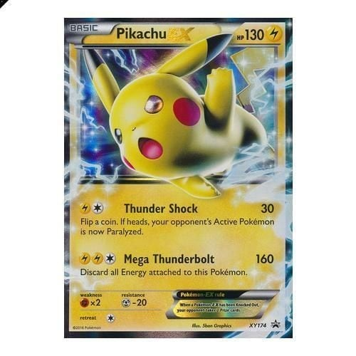 Carte pokemon pikachu ex xy174 ultra rare 130 pv neuf et d - Photo de pokemon rare ...