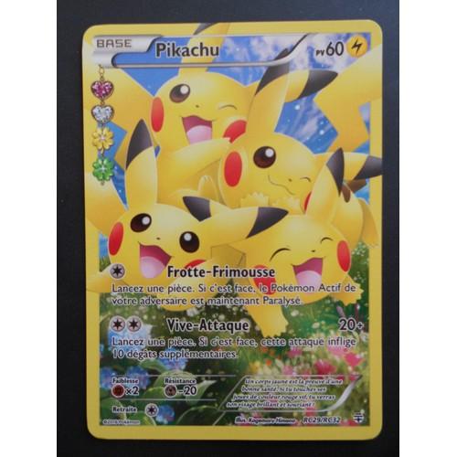 Carte pok mon pikachu rare rc29 rc32 full art brillante - Photo de pokemon rare ...