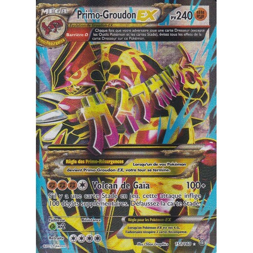 Carte pokemon primo groudon ex 151 160 neuf et d 39 occasion - Carte pokemone ex ...
