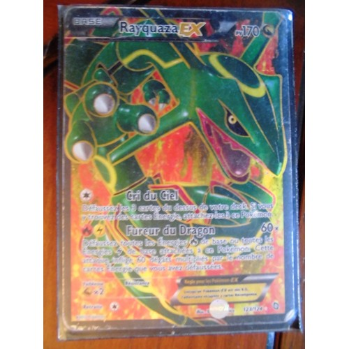 Carte pokemon rayquaza ex full art 170 pv 123 124 neuf et - Carte pokemon rayquaza ...