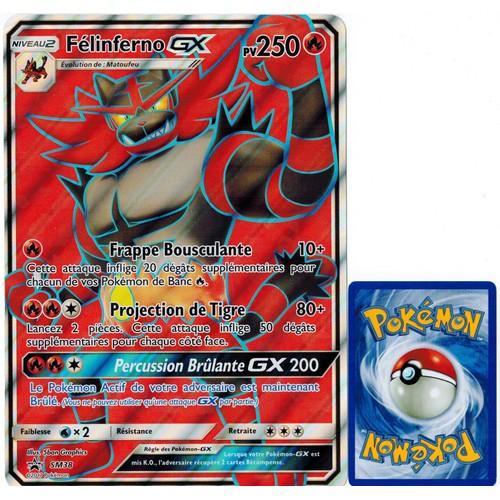 Carte pok mon sm38 f linferno gx jumbo 250 pv full art promo - Carte a imprimer pokemon ...