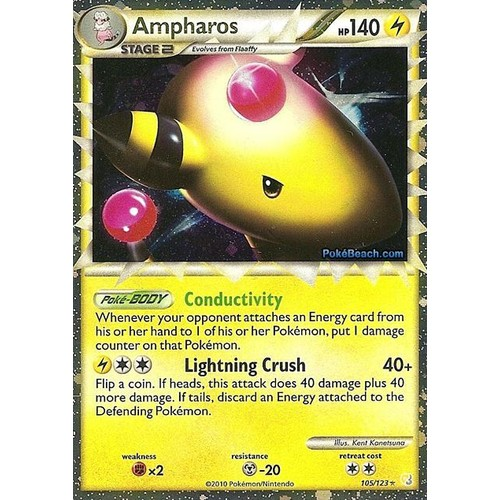 Carte Pokemon Ultra Rare Ampharos (Prime) Heart Gold Soul ...