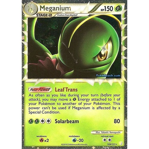 Carte Pokemon Ultra Rare Meganium (Prime) Heart Gold Soul ...