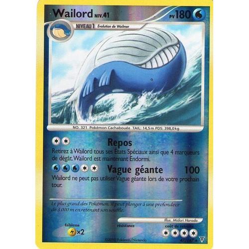 Carte pokemon vainqueurs supremes wailord reverse 180pv - Carte pokemon wailord ...