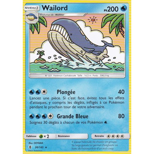 Carte pokemon wailord achat et vente neuf d 39 occasion - Carte pokemon wailord ...