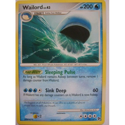 Carte pokemon wailord lv 43 200hp neuf et d 39 occasion rakuten - Carte pokemon wailord ...