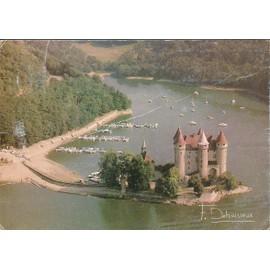 Carte-Post. : Chateau De Val (Xve) - Cantal - 1982 Photo Francis Debaisieux - Timbre,Flamme,Tampon