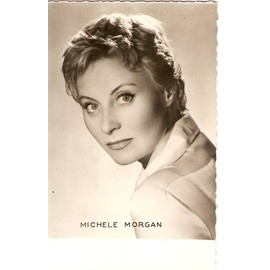 carte postale 9x13cm bords dentel s ann es 50 60 actrice cinema theatre michele morgan photo. Black Bedroom Furniture Sets. Home Design Ideas