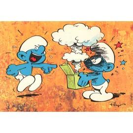 carte postale ancienne cpa peyo n 10 8 le schtroumpf farceur - Schtroumpf Farceur