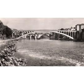 Carte Postale Ancienne Dentelee - Noir Et Blanc- Villeneuve Sur Lot - Les Deux Ponts- Editions Cap