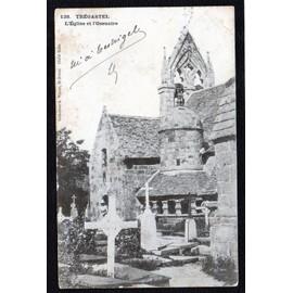 Carte Postale Ancienne, France, C�tes D'armor ( 22 ), Tr�gastel, L'�glise Et L'ossuaire