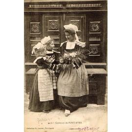 Carte Postale Ancienne France Finistere 29 Pont Aven Jeunes Femmes En Costumes Folklore