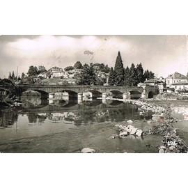 carte postale ancienne france haute garonne 31 montrejeau le pont sur la garonne et la ville. Black Bedroom Furniture Sets. Home Design Ideas