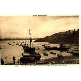 Carte Postale Ancienne, France, Ille Et Vilaine ( 35 ), Saint Servan Sur Mer, Le Port Saint P�re Et La Corniche D'aleth