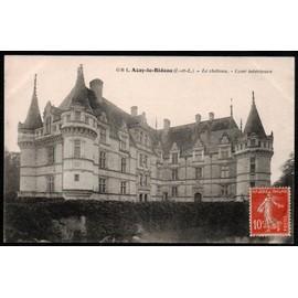 carte postale ancienne france indre et loire 37 azay le rideau le ch teau. Black Bedroom Furniture Sets. Home Design Ideas