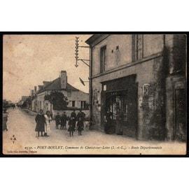 Carte Postale Ancienne, France, Indre Et Loire ( 37 ), Port Boulet ( Commune De Chouz� Sur Loire ), Route D�partementale, Anim�e