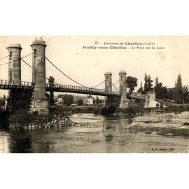 carte postale ancienne france loire 42 pouilly sous charlieu le pont sur la loire. Black Bedroom Furniture Sets. Home Design Ideas