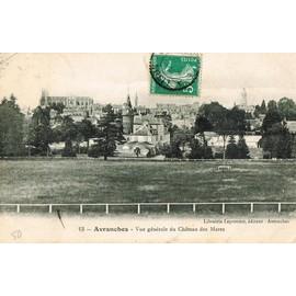 Carte Postale Ancienne, France, Manche ( 50 ), Avranches, Vue G�n�rale Du Ch�teau Des Mares - Oblit�ration Du 27/08/1908