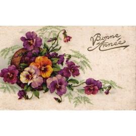 carte postale ancienne france voeux nouvel an bouquet de fleurs le texte 39 bonne ann e 39 est. Black Bedroom Furniture Sets. Home Design Ideas