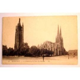 Carte Postale Ancienne Gironde Bordeaux La Cathedrale Et La Tour Pey Berland