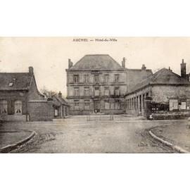 Carte Postale Ancienne Hotel De Ville Auchel - Achat et vente
